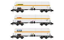SNCF 3-UNIT 4-AXLE GAS TANK WAGONS IV-V