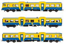 RENFE 3-UNIT DMU CL 592 IN ORI BL/YELLOW IV-V DCC