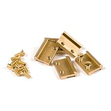 RAIL CLAMPS G SCALE BRASS 19MM 50 PCS