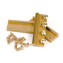 RAIL CLAMPS G SCALE BRASS 39MM 24 PCS