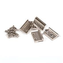 RAIL CLAMPS G SCALE NICKE-PLATED 19MM 50 PCS