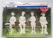 FIGURINES G-SCALE UNDECORATED 2 LADIES 2 GENTS **