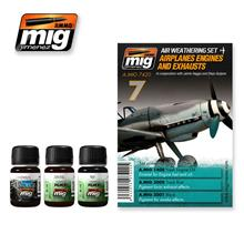AIRPLANES ENGINES AND EXHAUSTS 3 JARS 35 ML