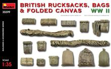 1/35 BRITISH RUCKSACKS BAGS & FOLDED CANVAS WWII