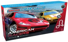 MICRO SCALEXTRIC AMERICAN RACERS RED NO.6 V YELLOW NO.17