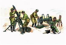 SOVIET 120MM MORTAR W. CREW 1:35 **